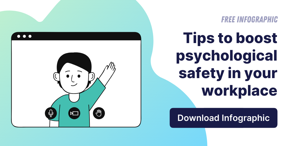 Psychological safety in the workplace infographic - free download