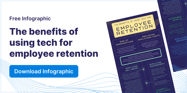 The benefits of using tech for employee retention Infographic
